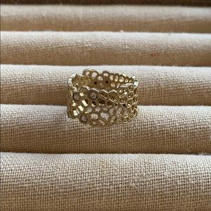 Chloe + Isabel Golden Honeycomb Ring